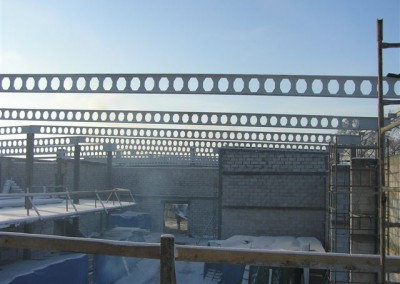 Konstrukcja dachu centrum handlowego